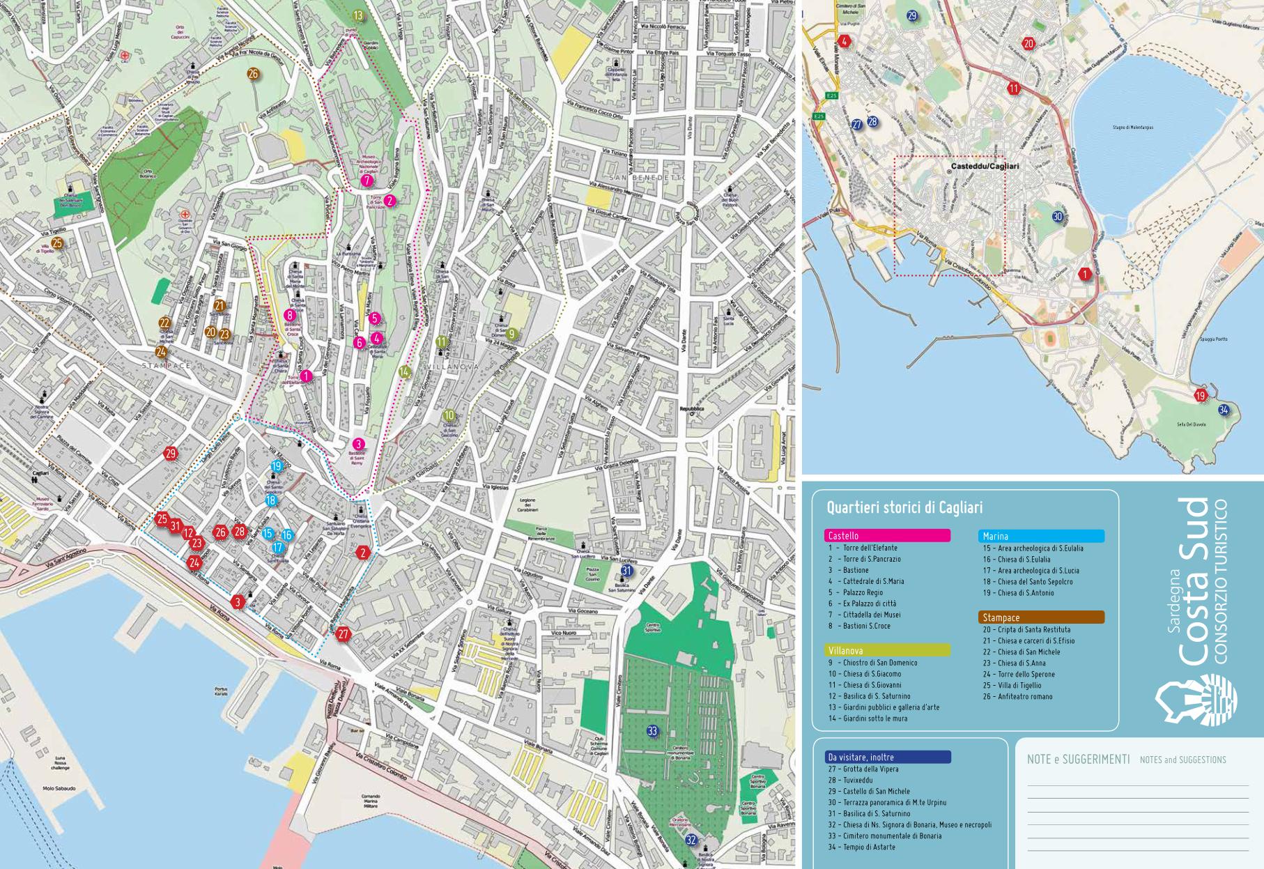 Cartina Geografica Di Cagliari.Press Area Destinazione Sud Sardegna